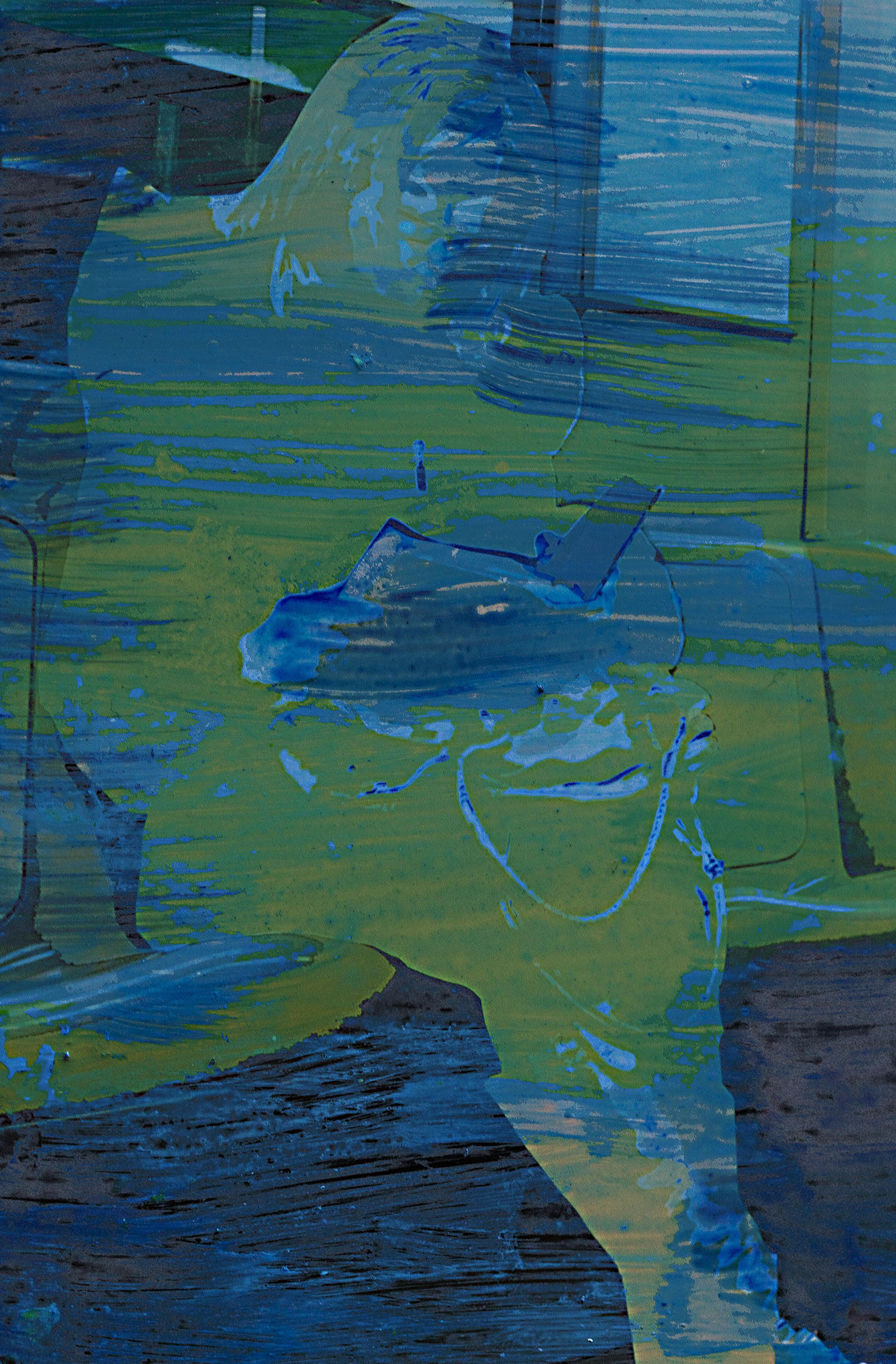 Passeggero seduto blu Milano Artista Massimo motta Italy